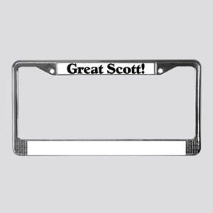 Great Scott (black) License Plate Frame