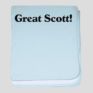 Great Scott (black) baby blanket