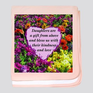 BLESSED DAUGHTER baby blanket