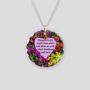 BLESSED DAUGHTER Necklace Circle Charm