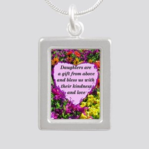 BLESSED DAUGHTER Silver Portrait Necklace