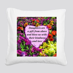 BLESSED DAUGHTER Square Canvas Pillow