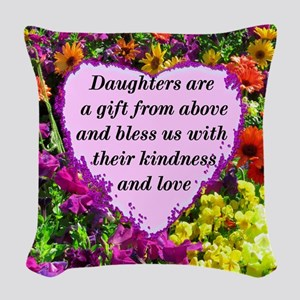 BLESSED DAUGHTER Woven Throw Pillow