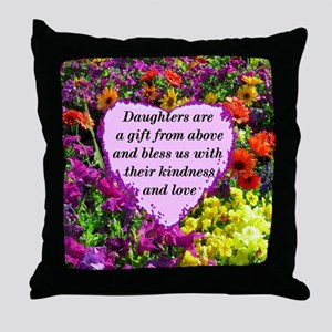 BLESSED DAUGHTER Throw Pillow