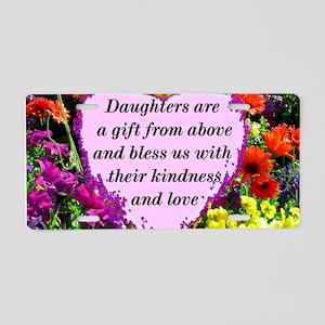 BLESSED DAUGHTER Aluminum License Plate