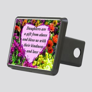 BLESSED DAUGHTER Rectangular Hitch Cover