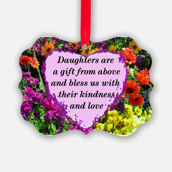 BLESSED DAUGHTER Ornament