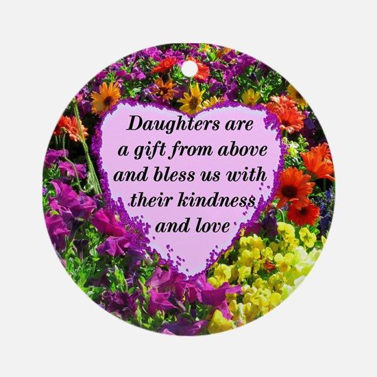 BLESSED DAUGHTER Ornament (Round)