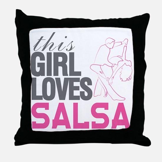 Cute Salsa Throw Pillow