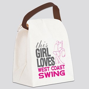 This Girl Loves West Coast Swing Canvas Lunch Bag