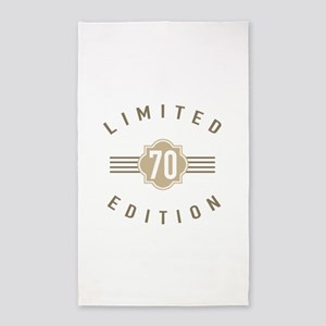 70th Birthday Limited Edition 3'x5' Area Rug