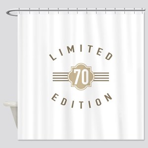 70th Birthday Limited Edition Shower Curtain