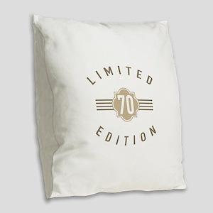 70th Birthday Limited Edition Burlap Throw Pillow