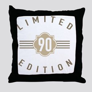90th Birthday Limited Edition Throw Pillow