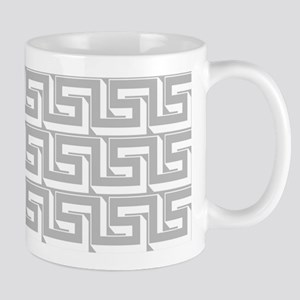 Elegant Gray Greek Key Mug