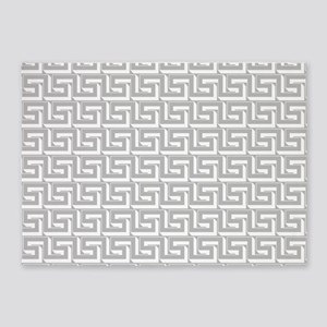 Elegant Gray Greek Key 5'x7'Area Rug