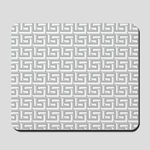 Elegant Gray Greek Key Mousepad