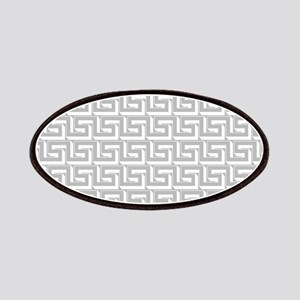 Elegant Gray Greek Key Patches