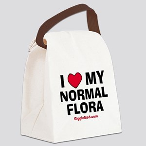 i-love-normal-flora-02 Canvas Lunch Bag