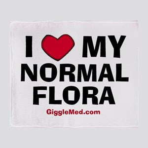 i-love-normal-flora-02 Throw Blanket