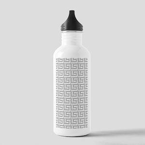 Elegant Gray Greek Key Stainless Water Bottle 1.0L