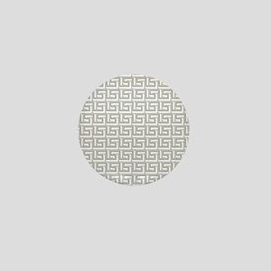 Elegant Gray Greek Key Pattern Mini Button