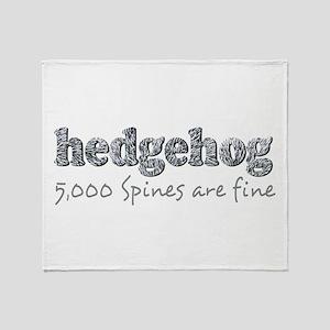 Hedgehog Spines Throw Blanket