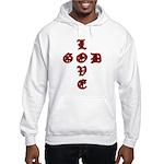 LOVE GOD -CROSS- CHRISTIAN Hooded Sweatshirt