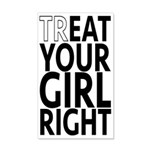 trEAT Your Girl Right 35x21 Wall Decal