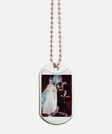 queen elizabeth the second Dog Tags