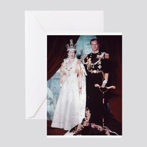 queen elizabeth the second Greeting Cards