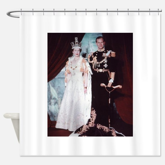 queen elizabeth the second Shower Curtain