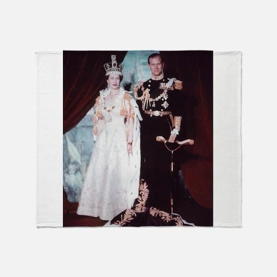 queen elizabeth the second Throw Blanket