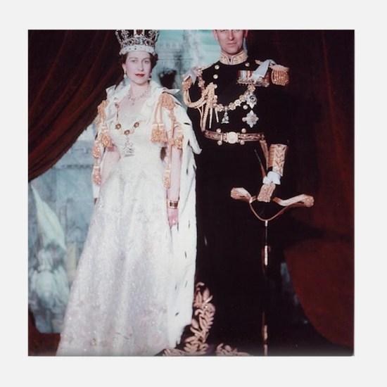 queen elizabeth the second Tile Coaster