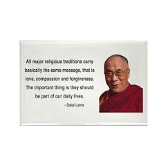 Dalai Lama 5 Rectangle Magnet (100 pack)