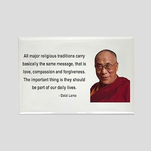 Dalai Lama 5 Rectangle Magnet