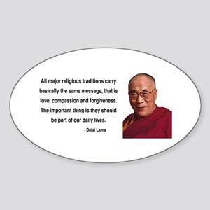Dalai Lama 5 Oval Sticker