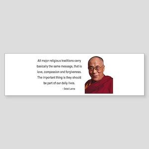 Dalai Lama 5 Bumper Sticker