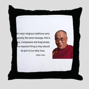 Dalai Lama 5 Throw Pillow