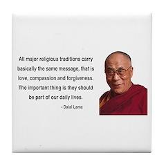Dalai Lama 5 Tile Coaster