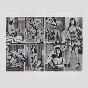 bettie page Throw Blanket