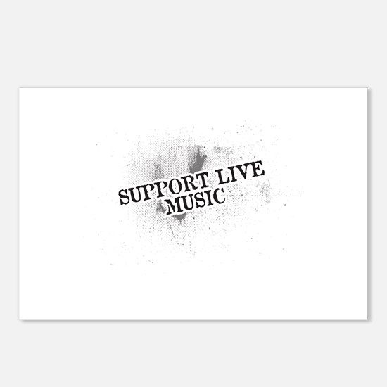 Support Live Music Postcards (Package of 8)