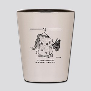 Moth Cartoon 3152 Shot Glass