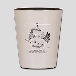 Moth Cartoon 3152 Shot Glass