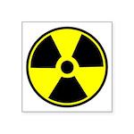 "Radioactive Warning Symbol Square Sticker 3"""