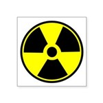 Radioactive Warning Symbol Square Sticker 3""
