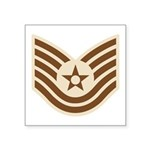 "Desert Military Insignia Square Sticker 3"" X"