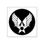 "Winged Star Military Symbol Square Sticker 3"""