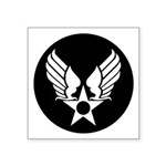 Winged Star Military Symbol Square Sticker 3""