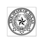 "Texas State Seal Symbol Square Sticker 3"" X 3"